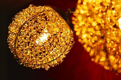 Chandelier Fixture Yellow Design Golden Black Decoration Ornament Shape - Free Photo 1
