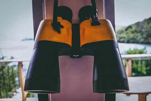 Bell Binoculars Optical instrument Device Cloak Shoulder - Free Photo 1