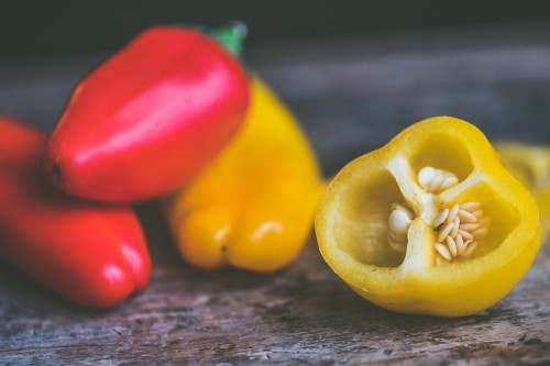 Pepper Vegetable Sweet pepper Bell pepper Yellow Healthy Food - Free Photo 1