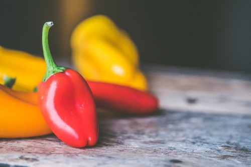 Pepper Vegetable Sweet pepper Bell pepper Healthy Food Fresh Vegetarian Vegetables Ripe - Free Photo 1