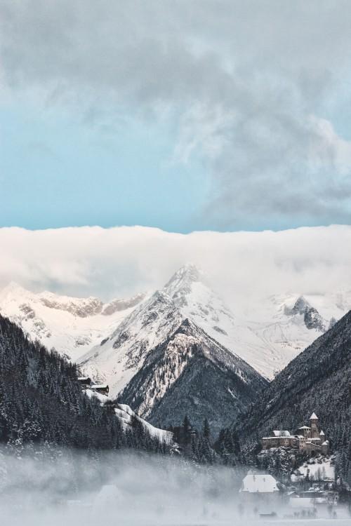 Snow Ice Mountain Cold Winter Glacier Handkerchief Landscape Sky - Free Photo 1