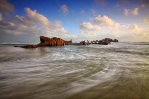 Wreck Vessel Ship Craft Beach Sea Ocean - Free Photo 1
