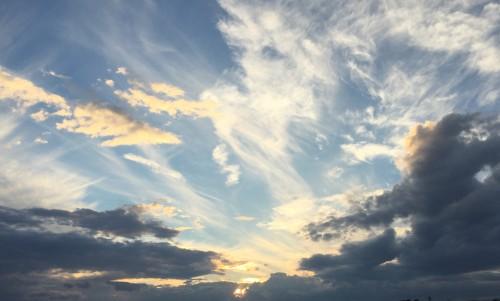 Sky Atmosphere Sun Clouds Cloud Weather Light Cloudy Cloudscape Landscape - Free Photo 1