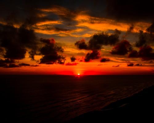 Sky Landscape Beach Sun Clouds Ocean #1