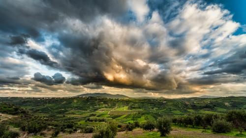 Sky Field Grass Atmosphere Meadow Landscape Rural Farm - Free Photo 1