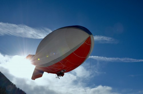 Aircraft Airship Craft Air Sky Balloon Vehicle Hot Colorful Freedom - Free Photo 1
