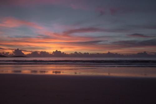 Beach Sky Ocean Sunset Sun Sea Seaside - Free Photo 1