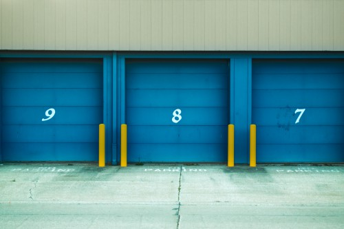 Garage Hall Cement Wall Door Interior Architecture Room Building Design - Free Photo 1