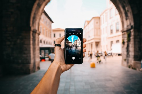 Digital watch Watch Timepiece Hand Instrument Holding #1