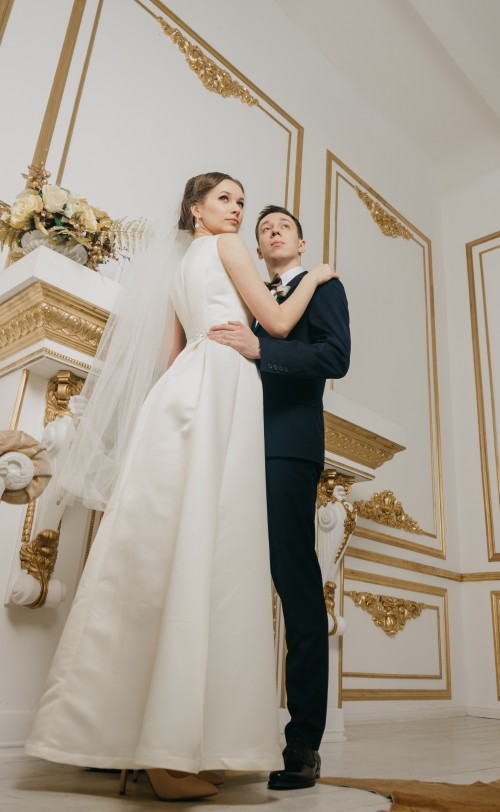 Groom Bride Dress Wedding Adult Couple Happiness - Free Photo 1