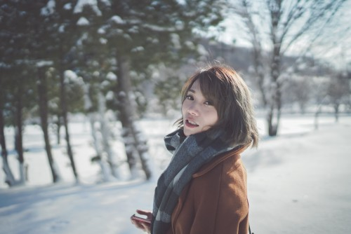 Snow Winter Cold Person People Happy - Free Photo 1