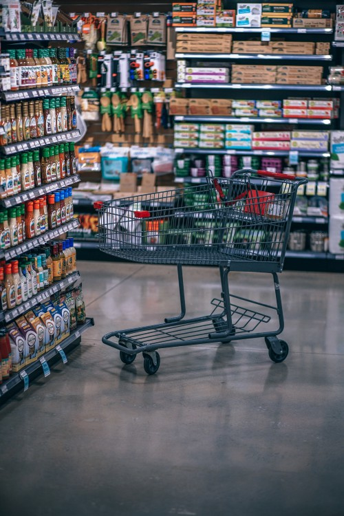 Shopping cart Handcart Container Wheeled vehicle Supermarket Basket Shopping basket Shopping Buy - Free Photo 1