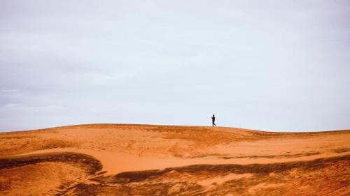 Dune Desert Sand Landscape Sky Dry Travel Mountain Rock Heat - Free Photo 1