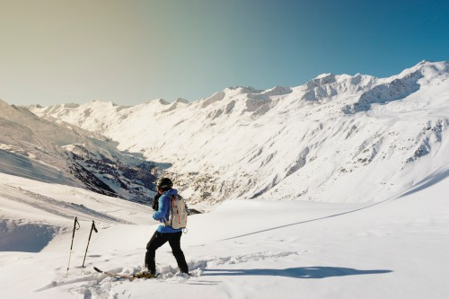 Snowmobile Snow Winter Mountain Ski Cold Landscape Ice Mountains - Free Photo 1