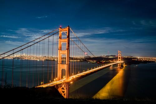 Bridge Structure Pier Support Landmark City Architecture Device Bay Suspension - Free Photo 1