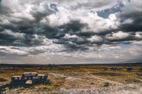 Sky Landscape Steppe Atmosphere Plain - Free Photo 1