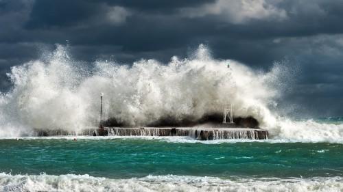 Ocean Breakwater Water Barrier Sea Structure Beach Fountain - Free Photo 1