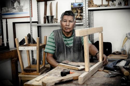 Carpenter Factory Loom Machine Plant Man Device